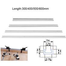 T-образный Алюминий слот трек джиг приспособление отслеживания для деревообработки Маршрутизаторы настольная ленточная пила для резки набор инструментов для самостоятельного Длина 300/400/500/600 мм