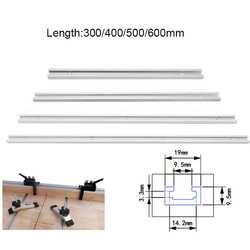 300/400/500/600 мм Нержавеющаясталь т-трек слот под углом джиг для деревообрабатывающий пазовальный станок
