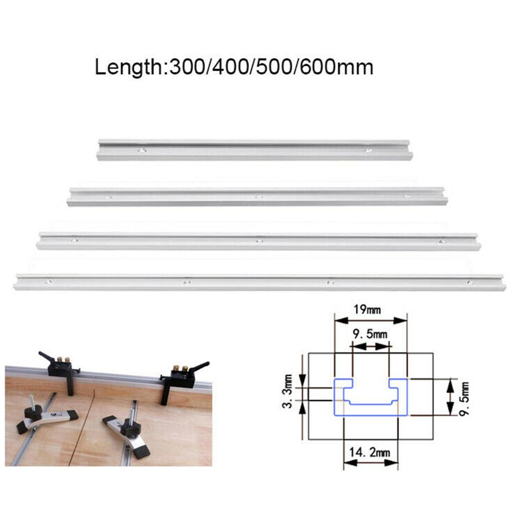 T-Track Aluminum Slot Miter T Track Jig Tracking Fixture For Woodworking Routers Table Bandsaw DIY Tool Length 300/400/500/600mm