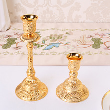 Metal Candle Holders Hollow Design Candlestick Tabletop Candle Stand Wedding Decoration Candelabra Home Decor Candelabrum