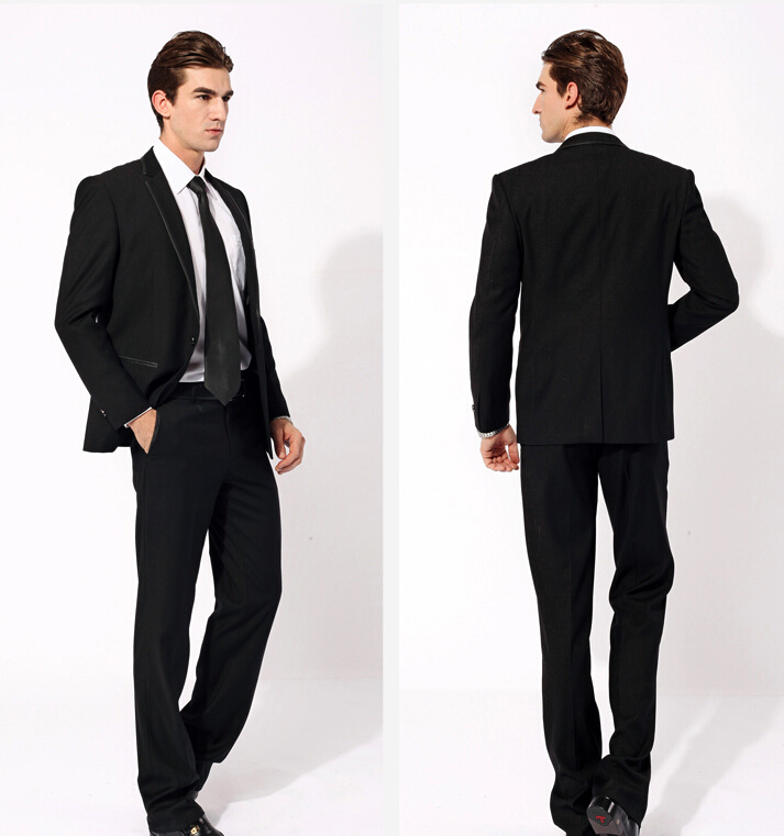 Aliexpress.com : Buy Elegant fashion men Groom Wear simple black ...