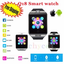 2016 SmartWatch Q18 Wristwatch with Touch Screen Camera TF Card Bluetooth Fashion font b Smart b