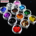 Glitter Holographic Pigment Nail Art Powder Laser Brillantini Paillettes Ongles Dust Confetti Paillette Craft Poudre Flakes 818