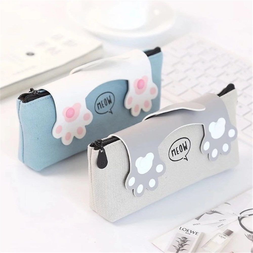 Cat Pencil Case Fabric Beauty School Supplies Stationery Gift School Pencil Box Pencil Bag School Supplies Students Gifts
