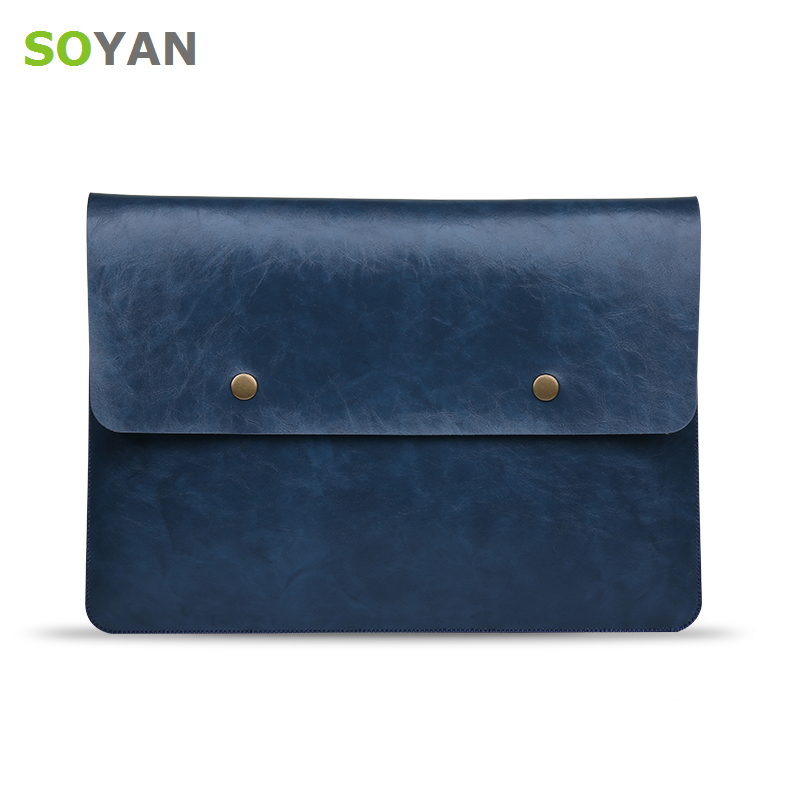 Laptop bag PU Leather Laptop case For Apple Macbook Air Pro Retina 12 13 15 laptop sleeve For macbook air 13 case go pro цена 2017