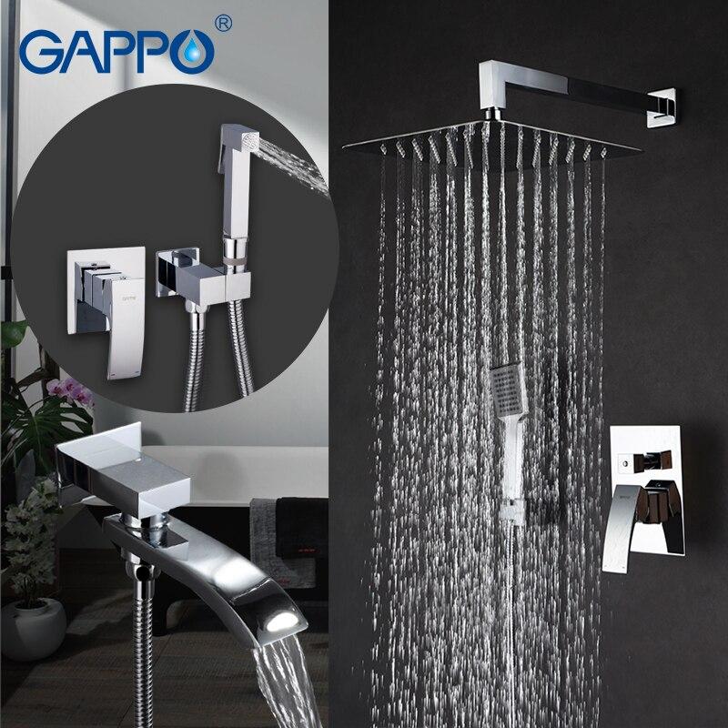 GAPPO Bathtub Faucets bath tub mixer bathtub tap baignoire bidet faucet handheld bidet spray washer tap аксессуар gappo g8001