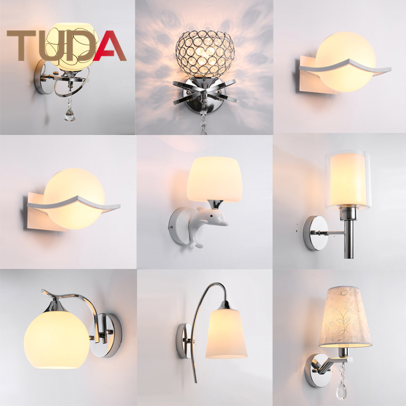 TUDA Modern Minimalist Fashion Warm LED Wall Lamp Bedroom Wall Lamp Living Room Dining Room Decorative Wall Lamp