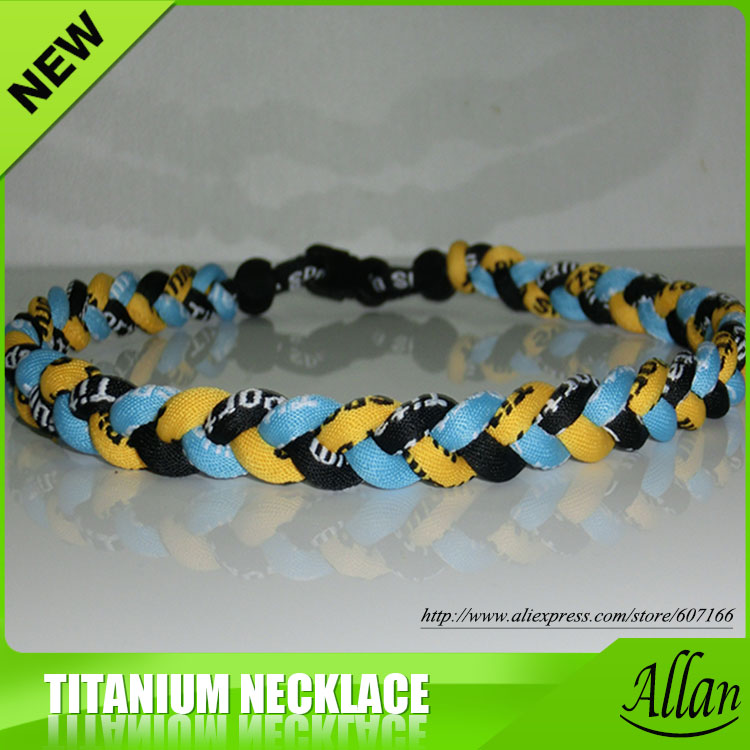 "BASEBALL Titanium Tornado Sport Necklace 20/"" Navy Blue Yellow NEW"
