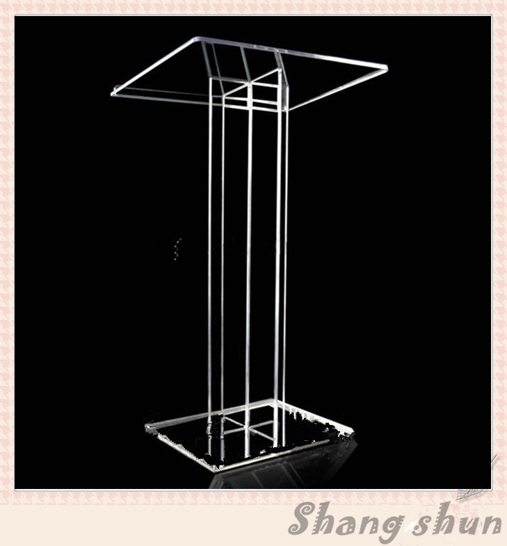 Acrylic desk top lectern rostrum podium lectern acrylic lectern dais platform glass church lectern transparent acrylic school lectern acrylic platform perspex rostrum plexiglass dais cheap church podium