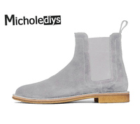 Handmade All Matching Luxury Brand Men Chelsea Boots Leather Famous Brand Men S Party And Wedding