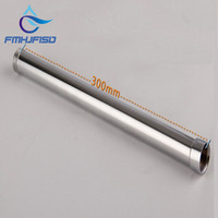 Free Shipping Wholesale And Retail 12 30CM Solid Brass Chrome Finish Round Bathroom Shower Faucet Pipe