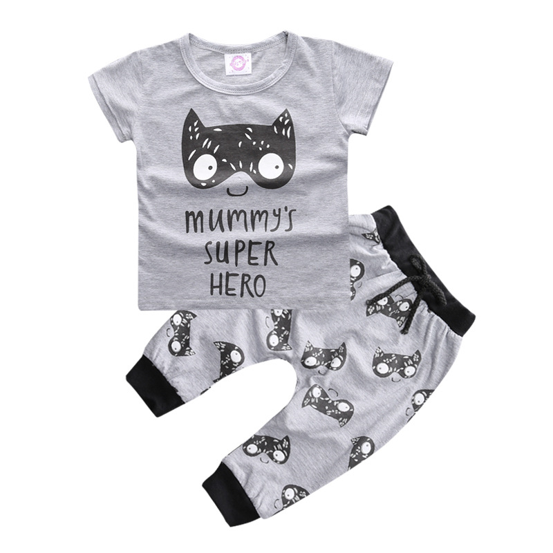 Baby Boys Clothes Summer Baby Boy Clothing Sets 2017 Baby Rompers Short Sleeve Newborn Baby Clothes Roupas Bebe Infant Jumpsuits