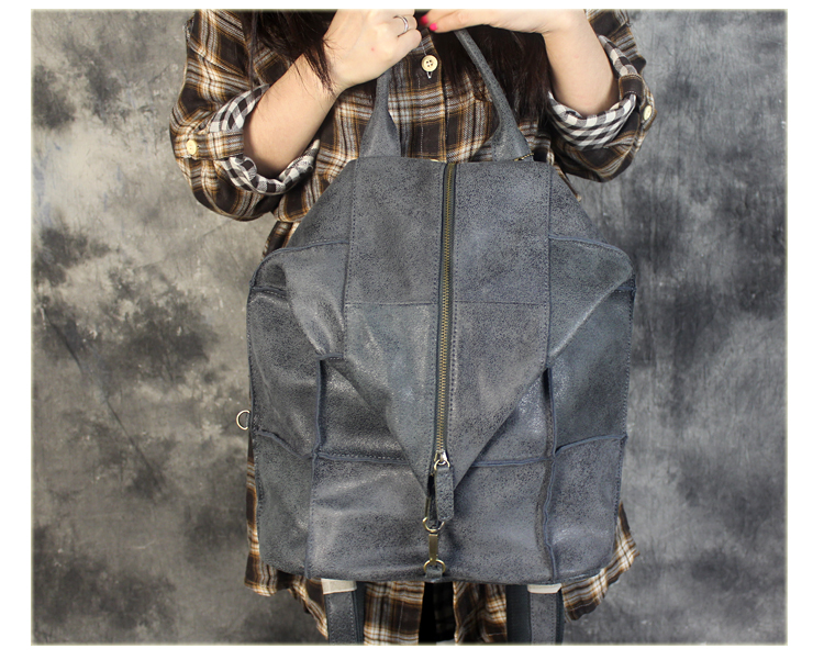 Free shipping Genuine leather backpack women's fashionable casual backpack trend leather bag big backpack size 40*37cm black 853016 fashionable gothic black leather underbust corset for women black size l