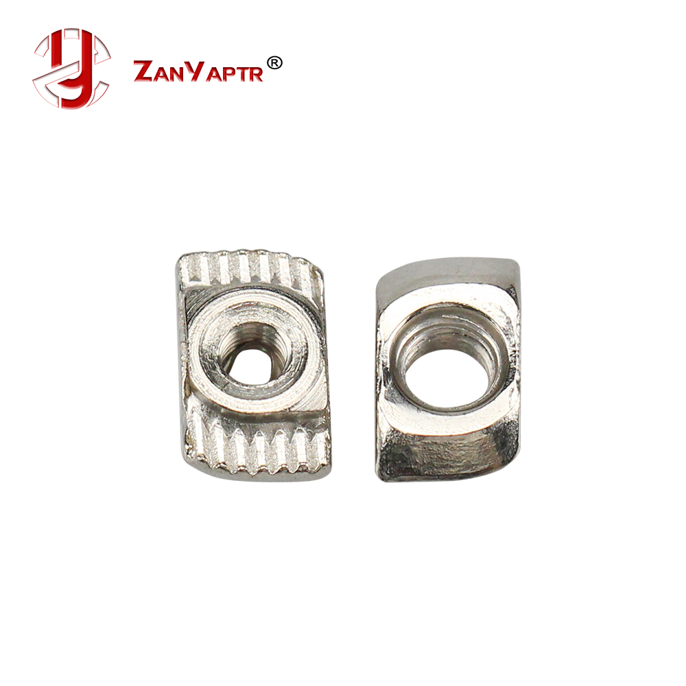 10Pcs M3 M4 M5 Carbon Steel T Type Nuts Fastener Aluminum Connector For EU Standard 2020 Industrial Aluminum Profile For Kossel