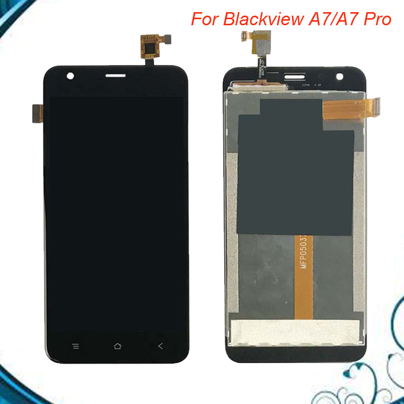100% Tested For 5 inch Blackview A7 /A7 Pro LCD Display+Touch Screen LCD Digitizer Glass Panel Replacement Assembly