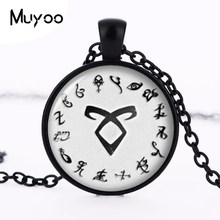 1 unids hunters Rune Shadowhunter city necklace necklace crystal necklace bones Cabochon HZ1(China)