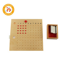 Montessori Educational Wooden Toy Multiplication and Division Bead Board for Early Childhood Preschool ou fs8 multifunction early childhood educational music robot toy w interaction led white pink
