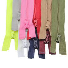 2 pcs 50 cm 3 # high-grade resina Zíperes para roupas jaqueta de roupas para baixo zíper colorido para dormir zip saco de roupas acessórios