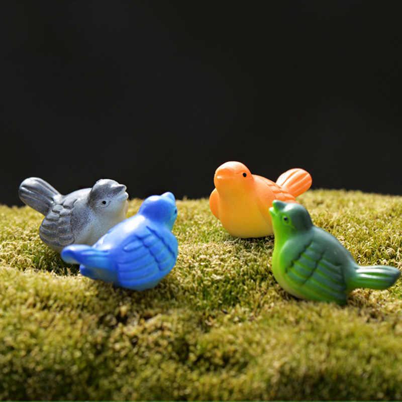 4pcs Mini Birds Mini Landscape Fairy Garden Decor Miniatures