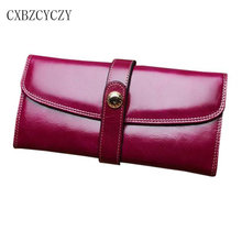2017 New Style genuine leather wallet high quality women luxury brand long cowhide women bag wallets card Purses carteira