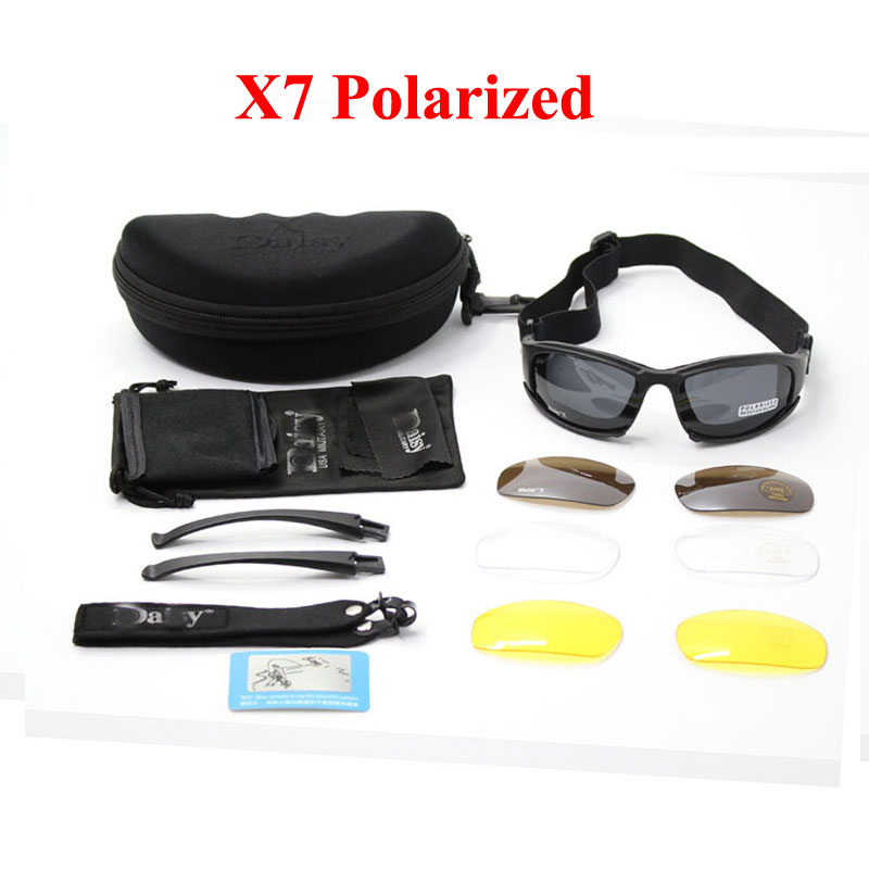 Daisy X7 Military Tactical Goggles Motorcycle Riding Glasses Sunglasses Eyewear