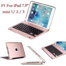 ABS için iPad mini 2 3 için Klavye ile Kapak A1432 A1454 A1599 A1600 USB Bluetooth Kablosuz iPad mini için 2 3 klavye 7.9