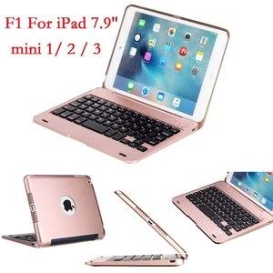 Image 1 - ABS voor iPad mini 2 3 Case met Toetsenbord Cover A1432 A1454 A1599 A1600 USB Bluetooth Draadloze voor iPad mini 2 3 toetsenbord 7.9