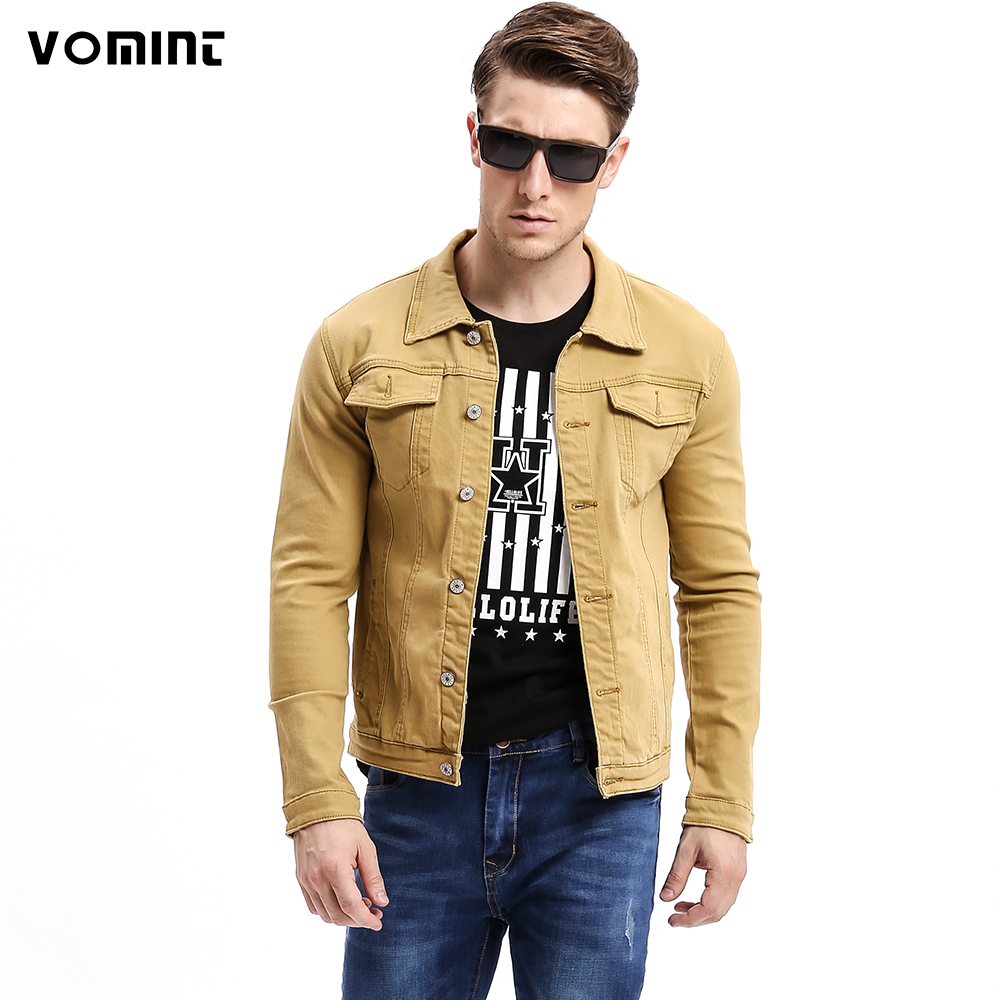 Vomint 2017 Autumn Mens Denim Jackets Multi Color Stretch ...