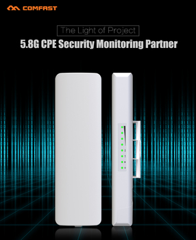 Long range 3-5km 300Mbps 5.8G Wireless CPE Router Outdoor Wireless Bridge WIFI Repeater Extender nanostation for IP Camera CCTV