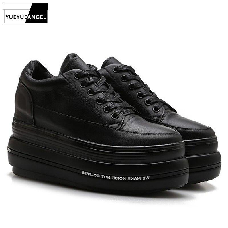 Sneakers Black Chaussures Velours 8 8 Rond Velvet En Cuir black 5cm Épais 5cm Creepers 5cm Plate Bout Noir Véritable Femmes Dentelle De Luxe 6 Mocassins Casual Femme Marque black forme wqRTXZxq