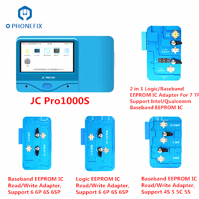 PHONEFIX JC PRO1000S Multi Function Baseband Logic EEPROM IC Read Write Repair Tool For iPhone 7