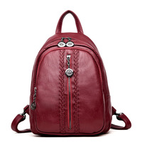 Fashion Women Backpacks Leather Women Travel Bag Casual Ladies School Bags For Teenagers Girls Daily Backpacks Rucksack Mochilas