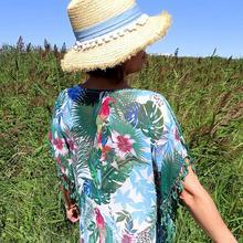 2019 Tunic for Beach Bathing suit cover ups Chiffon Beach Dress Women Beachwear Bikini cover up Saida de Praia #Q523