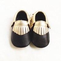 أعلى جودة جلد طبيعي مختلط الألوان الطفل الأخفاف أحذية لينة طفل الأحذية الأولى حمالات بيبي الوليد freeshipping