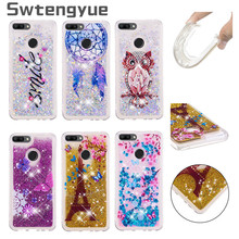For Coque Huawei Honor 9 lite case Dynamic Liquid Glitter Bling Silicone cover sFor Fundas Phone Case