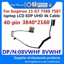 """怒っドラゴンブランドの新 15.6 """"リボン液晶 EDP UHD 4 18k ケーブル いいえ TS Dell の Inspiron 15 G7 7588 7587 8VWHF 08VWHF DC02C00FY00"""