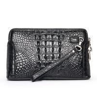 Luxury Quality Genuine Crocodile back Skin Leather Men Wallet clutch password lock bank card holder businese men clutch