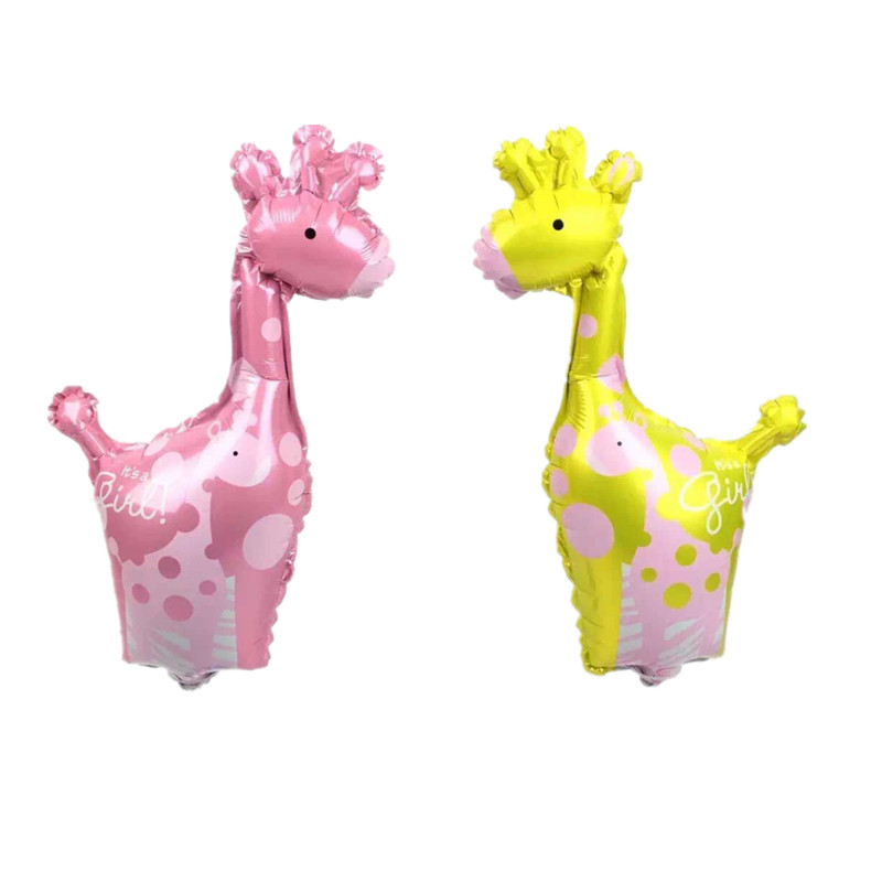 XXPWJ The new arrival! New mini giraffe aluminum foil balloon wedding banquet ba