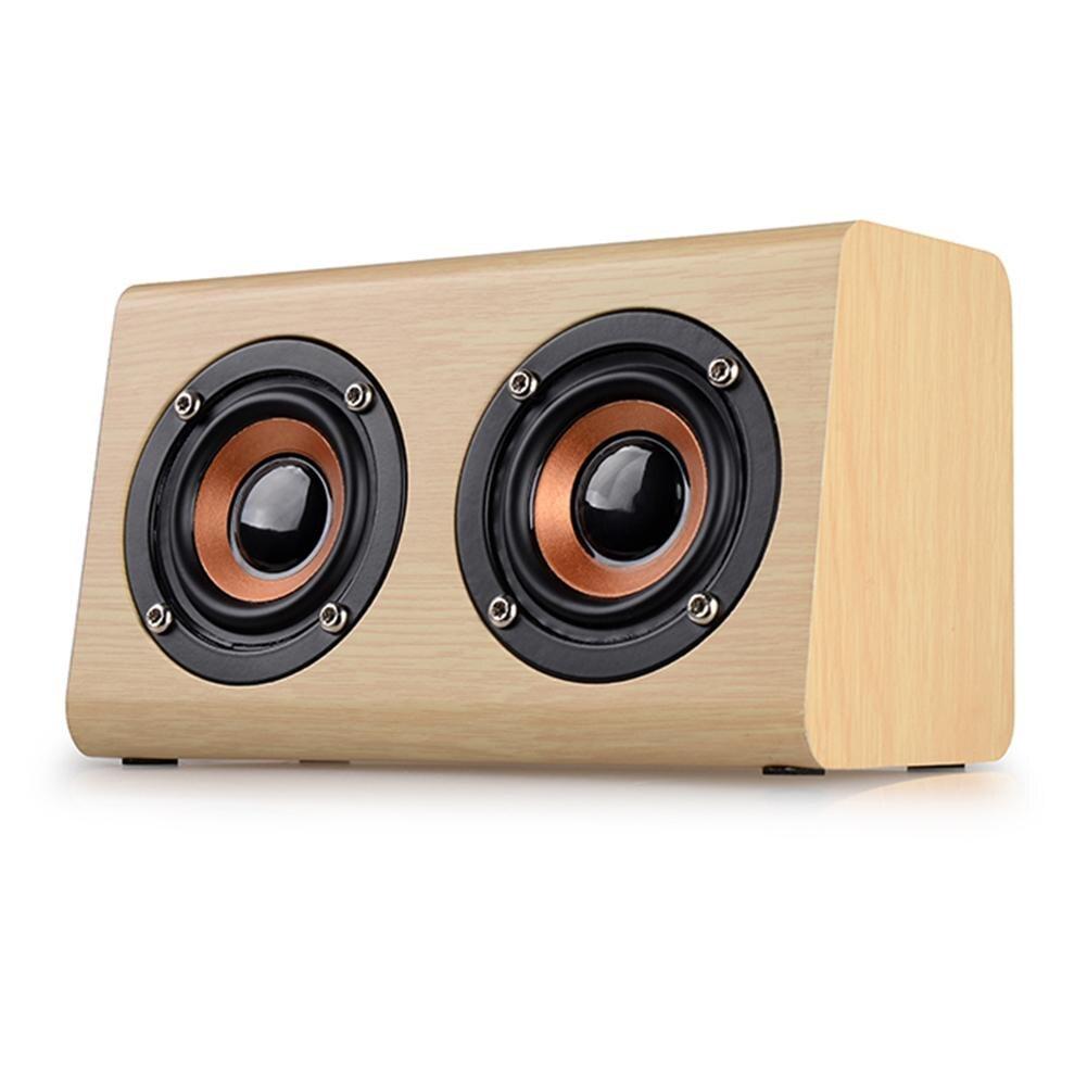 Le plus nouveau haut-parleur en bois sans fil Bluetooth haut-parleur pour TV maison Portable lecteur haut-parleurs théâtre bois barre de son avec microphone