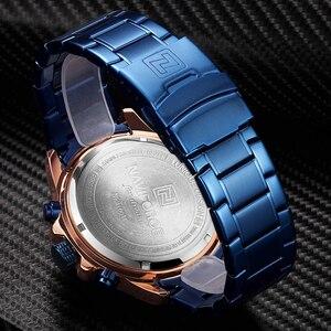 Image 5 - NAVIFORCE relojes deportivos para hombre, cronógrafo de pulsera, resistente al agua, de cuarzo, militar, dorado, Masculino