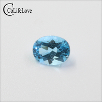 100% natural topaz loose gemstone for silver jewelry DIY 7 mm * 9 mm VVS grade topaz gemstone