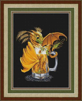Needlework DIY Cross Stitch Sets For Embroidery Kits 11CT 14CT Small Yellow Dragon