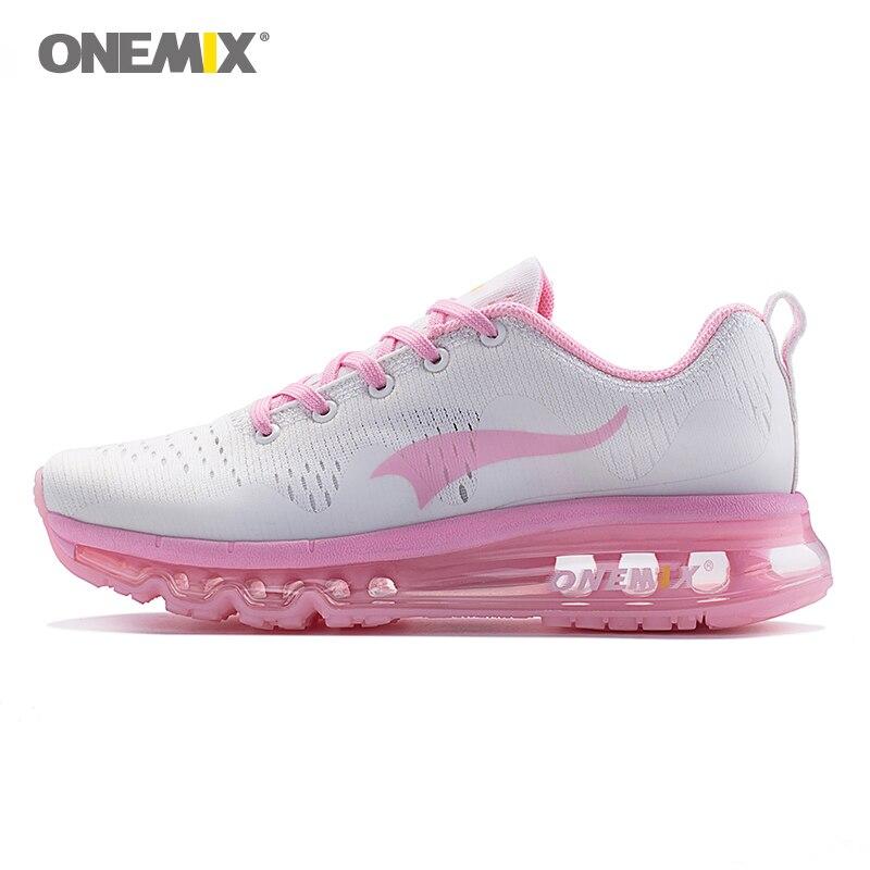Onemix Женские кроссовки Спорт на открытом воздухе кроссовки дышащая прогулочная беговые кроссовки летом походная обувь в розовом
