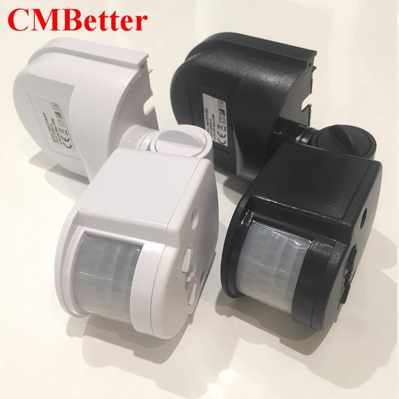 CMBetter LED Motion Sensor 12 v 24 v Automatische Infrarot PIR Infrarot-detektor 180 Grad Zeitschaltuhr Bewegungssensor HH