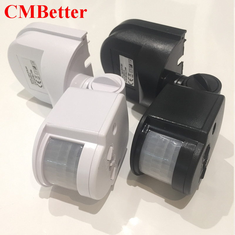 CMBetter LED Motion Sensor 12v 24v Automatic Infrared PIR Infrared Detector 180 Degree Rotating Timer Switch Motion Sensor HH new 180 degree security pir infrared motion sensor detector movement switch white automatic convenient durable