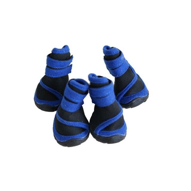 Pet Classic Waterproof Shoes TPS Sole  Big Dog Rain Boots Pet Large Dog Shoes for Outdoor Hiking Mountain Climbing (4pcs/set)