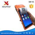 SM-V1 5.5 Pulgadas Andoid Mini Máquina de La Posición De Mano con Pantalla Táctil 3G con Bluetooth Wifi Mini Pos Impresora Térmica