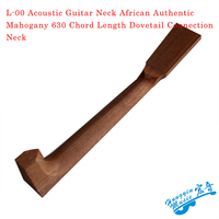 L 00 Acoustic Guitar Neck African Authentic Mahogany 630 Chord Length Dovetail Connection Neck DIY Wood Guitar Accessories