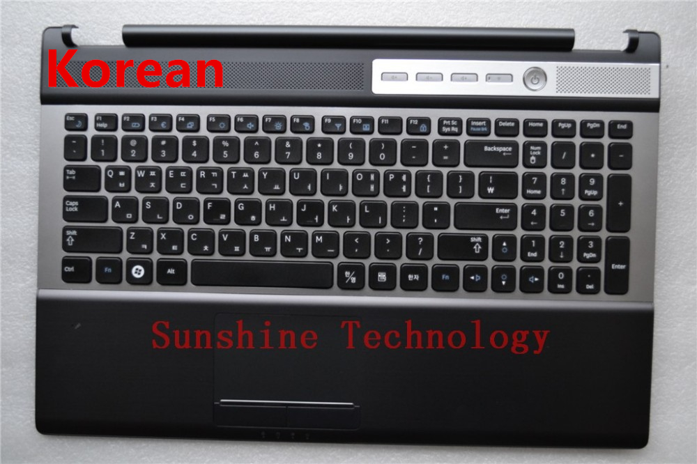 Korean layout new laptop Keyboard with touchpad palmrest for SAMSUNG RF510 RF511 new notebook laptop keyboard for samsung np rf510 rf511 russian spanish layout