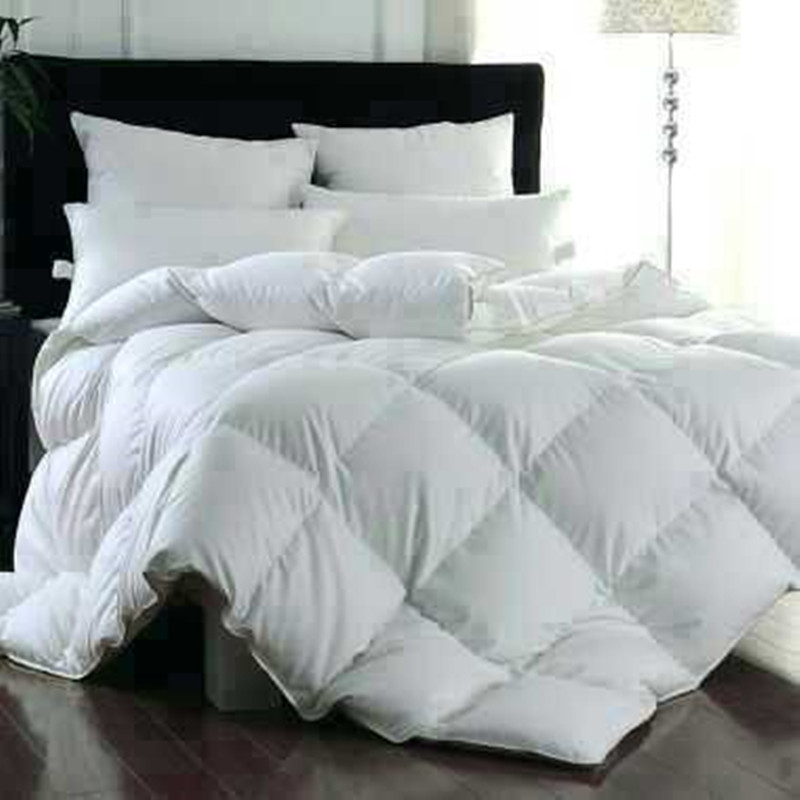 white duck down u0026 goose down comforter queen king size 100 cotton jacquard quilt quality